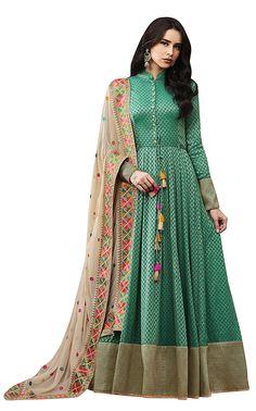 6074b1c42a9d Brijraj Women s Jacquard Embroidered Anarkali Suit (903903064000