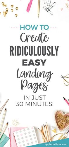 Learn how to create a beautiful landing page with ZERO design skills. Click to learn more. Sales page, Thrive architect, page builder, how to build a home page, custom wordpress pages, webpage editor, blog design
