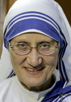 Sister Mary Prema, Superior General, Missionaries of Charity, the order founded by Mother Teresa, smiles as she talks to the media in Kolkata, India, Tuesday, March 15, 2016. Mother Teresa will be made a saint on Sept. 4. Pope Francis set the canonization date Tuesday, paving the way for the nun who cared for the poorest of the poor to become the centerpiece of his yearlong focus on the Catholic Church's merciful side. (AP Photo/ Bikas Das)
