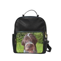 Dog and Flowers Campus Backpack Large. #FREEShipping #artsadd #lbackpacks #dogs