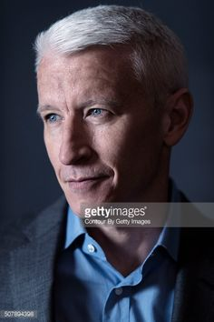 Anderson Cooper of 'Nothing Left Unsaid: Gloria Vanderbilt & Anderson Cooper' poses for a portrait at the 2016 Sundance Film Festival on January 2016 in Park City, Utah. Celebrity Pictures, Celebrity News, Cnn Anchors, Anderson Cooper, Male Male, Sundance Film Festival, Gloria Vanderbilt, A Good Man, Handsome