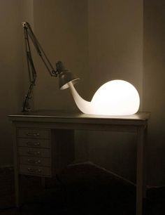Bulb Lighting Contemporary Design by Pieke Bergmans (Just imagine this being a snail light