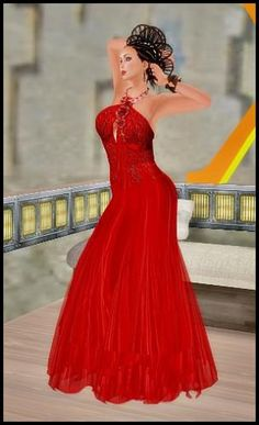 Red Dress and Crazy hair!  by   MariaFlor Parx
