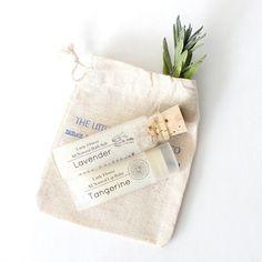 cute little gift set / all natural lip balm and bath salt gift set in muslin  bag / wedding favor /bath and beauty via Etsy