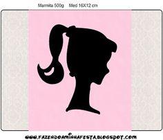 Etiquetas para imprimir gratis de Barbie Silueta.