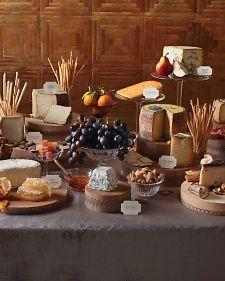 Beautiful assorted cheese display