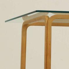 1950s Alvar Aalto 805 - Glass Top Table