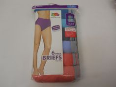 Women Brief Panties 6 Pack PLUS SIZE 10/3X Multi Assorted FRUIT OF THE LOOM #FruitoftheLoom #BriefsHiCuts #Everyday