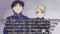 fullmetal headcanon | fullmetal-headcanon:Because Fuhrer Roy was so afraid that Riza being ...