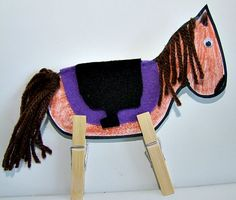 Cowboy Horse Craft for Lily's party-use as place cards?
