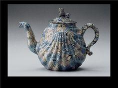 English Agateware Teapot