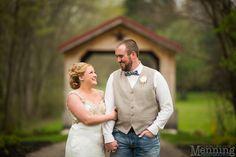 Brookside Farms wedding photos with covered bridge