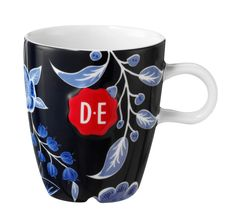 D.E Hylper koffiekop - donker blauw, dark blue #coffee #cup #HylperHeritage #DouweEgberts