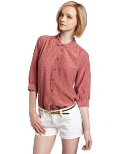 Maison Scotch Women's Longer Length Drappy Shirt, Rose, 2 Maison Scotch. $103.50. Hand Wash. This silk-blend Maison Scotch tunic-length blouse has a star print, slightly rounded collar, and three-quarter-length sleeves. Six-button closure. Single-button cuffs. Shirttail hem and side vents.. 57% Silk/43% Cotton. Made in China