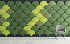 Ginkgo Acoustic panel for Blå Station by Stone Designs, 2013 #BlaStation #StoneDesigns