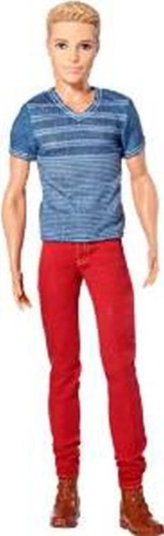 Barbie Fashionistas Ken Doll, Red Jeans and Blue Tee~New! #Mattel #DollswithClothingAccessories