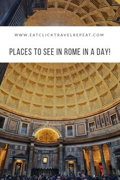 Rome was not built in a day but what can you see in one day? Check out this blog to see which places we managed to see successfully Rome In A Day, Repeat, Places To See, Louvre, Italy, Explore, Building, Check, Blog