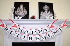 Firefighter Retirement Banner Fireman's by DCBannerDesigns on Etsy
