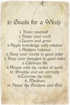 Lovely list, but I would personally alter number 13 to say 'the Gods' - so that it is not distinctly Wiccan, of which I am not. :-)