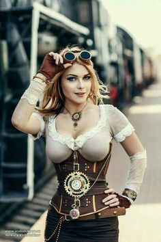 Steampunk girl.