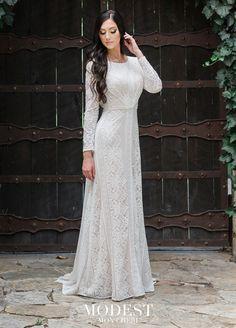 62fcb4565f2d Modest Bridal by Mon Cheri TR11983 Long Sleeve Wedding Dress