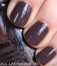 OHMYGOODNESS taupe nail polish will always be my favorite.