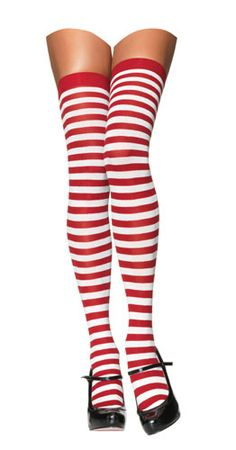 Candy cane legs! Wear over white hose and with a red skirt! Only $3.99.