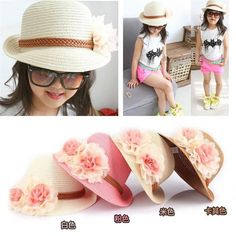 2016 Hot Cute Flower Decorate Baby Girls Children Hats Sun Beach Caps For Summer 4 Colors For Choose Free Shipping Beach hat♦️ SMS - F A S H I O N 💢👉🏿 http://www.sms.hr/products/2016-hot-cute-flower-decorate-baby-girls-children-hats-sun-beach-caps-for-summer-4-colors-for-choose-free-shipping-beach-hat/ US $6.14