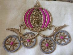 Cinderella Embroidery Hand Embroidery Videos, Embroidery Motifs, Simple Embroidery, Embroidery Suits, Hand Embroidery Designs, Beaded Embroidery, Zardosi Embroidery, Hand Work Design, Patch Design