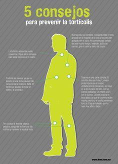Infografía: 5 consejos para prevenir la tortícolis. #salud y #bienestar