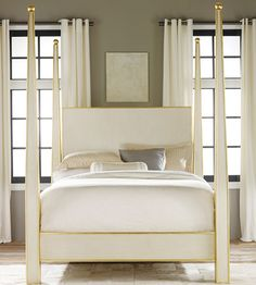 Interior HomeScapes offers the Abstract Bed With Gold Leaf Trim by Modern History.  Visit our online store to order your Modern History products today.