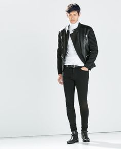 ZARA - SALE - JACKET WITH NEOPRENE SLEEVES
