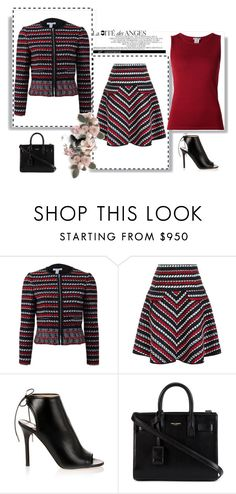 """""""Outfit # 2416"""" by miriam83 ❤ liked on Polyvore featuring Oscar de la Renta, Jimmy Choo and Yves Saint Laurent"""