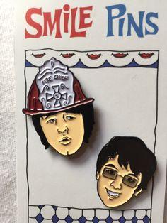 Brian Wilson and Van Dyke Parks enamel Smile pins