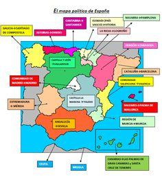 Mapa España #spagnoleggiando