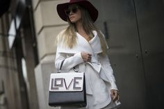 Pin for Later: The Best Street Style Accessories We Saw at Paris Fashion Week PFW Day Six Isabella Diniz carrying a Les Petits Joueurs bag.