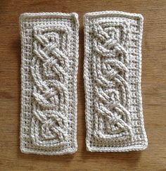 Book of Kells - Small crochet Cables by SunnyInDenmark, via Flickr/ free pattern on ravelry