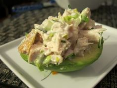 Palta Reina (an avocado half which is filled with tuna fish or ham and covered with mayonnaise. It is served on lettuce leaves, normally as an entree.)