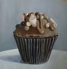 """The Rocky Road to Cup Cake Heaven"""" by April Jarocka Costa Coffee, Little Cup, Cupcake Art, British Bake Off, Rocky Road, Sugar Rush, Confectionery, Viera, Junk Food"""
