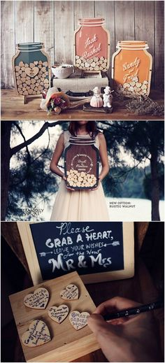 Mason Jar : Size 3 Wedding Guest Book alternative