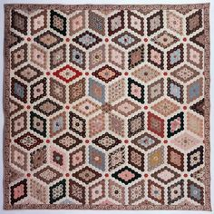 Mosaic Quilt, c. 1840 by Hannah Wallis. From the special exhibit, The DAR Museum Collection: Quilts of a Young Country.