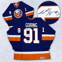 391af5d1c Autograph Authentic GORB115001 Butch Goring New York Islanders Signed Conn  Sythe Retro CCM Hockey Jersey