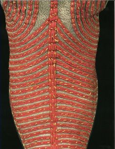 1670s, French or English, V, silk braid on leather. Shoe Detail from 17th & 18th Century Fashion in Detail.