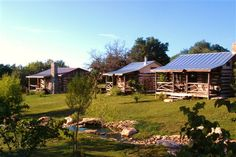 Log cabins at Barons CreekSide - Fredericksburg, TX