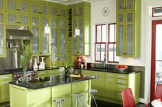 green kitchens - Google Search