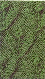 Free Knitting Patterns: Flower sprigs  Other stitches too.