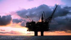 offshore platform sunset
