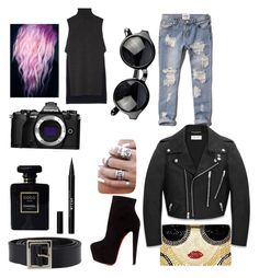 """Oblivious"" by madamerasta on Polyvore featuring ADAM, Abercrombie & Fitch, Christian Louboutin, Alice + Olivia, Olympus, Stila, Chanel and Yves Saint Laurent"