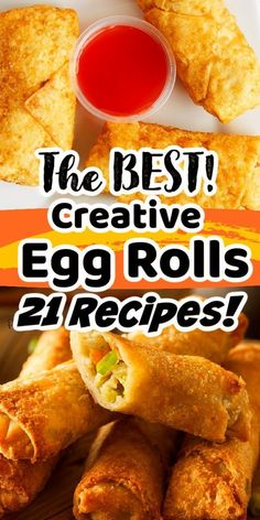 Are you looking for some mouthwatering egg roll recipes? If so, you must-try some, if not ALL, of these delicious egg roll recipes from Pint-sized Treasures. These twenty-one recipes are incredibly creative! There are both savory and sweet egg roll recipes! Give them a try, you won't be sorry! Egg Roll Recipes, Egg Rolls, Happy Family, Sweet Potato, The Best, Easy Meals, Eggs, Vegetables, Marriage Help