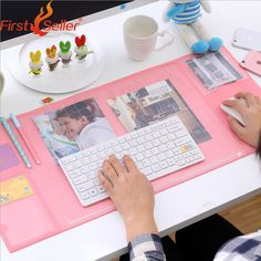 New fashion 5 colors Oversized desk writing pad multifunction computer fresh mat PVC waterproof pad / mouse pad